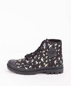 PALLADIUM Women Sneakers 95752 PAMPA HI P, Black Nimbus Cloud 79.99