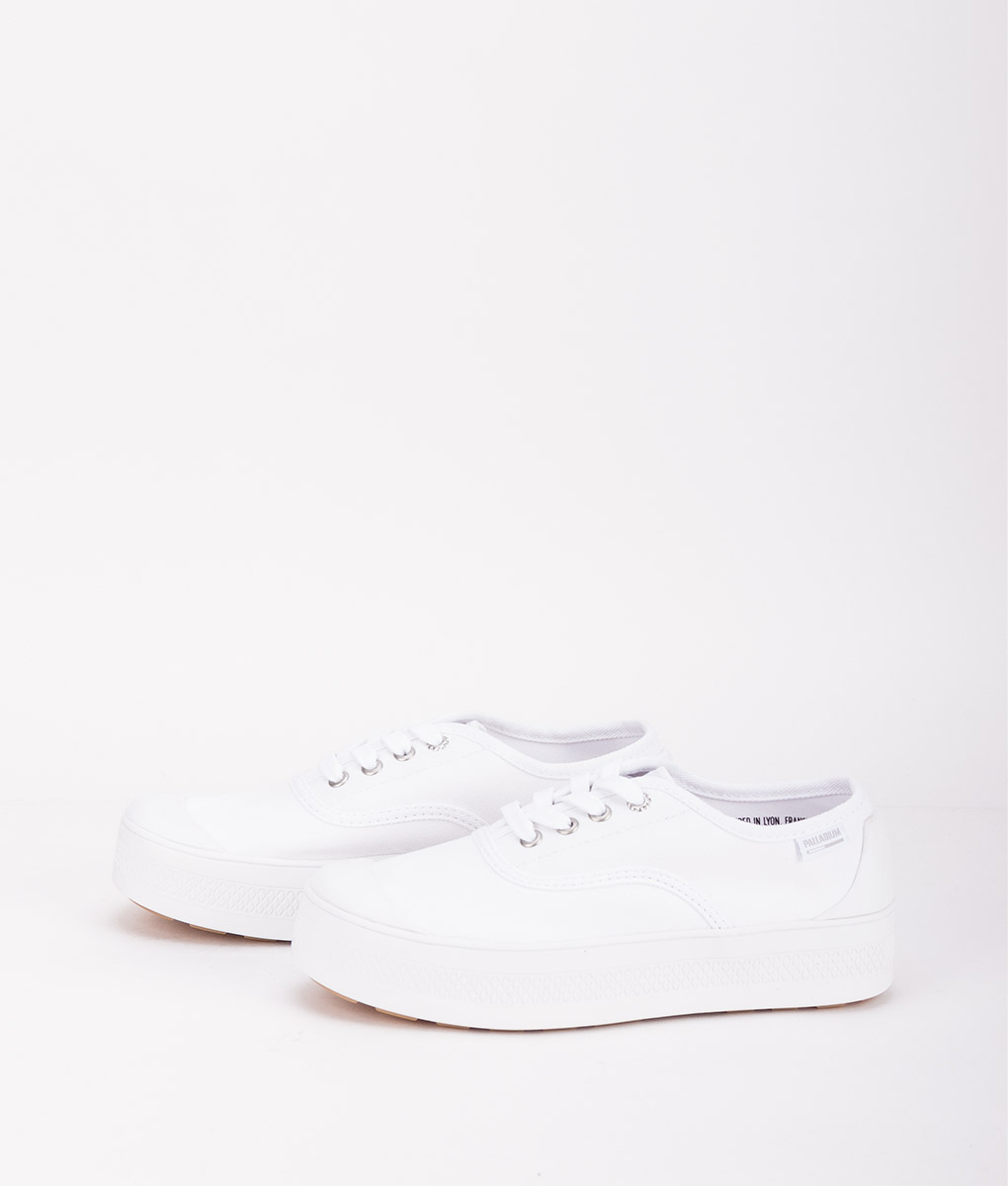 PALLADIUM Women Sneakers 95768 SUB LOW CVS, White 74.99