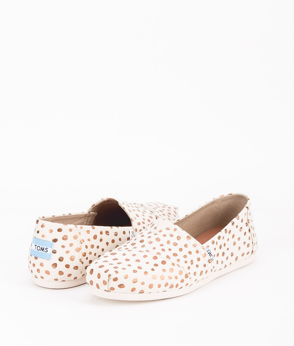 TOMS Women Espadrilles 11646 CANVAS DOTS W, Rose Gold Natural 55.99 1