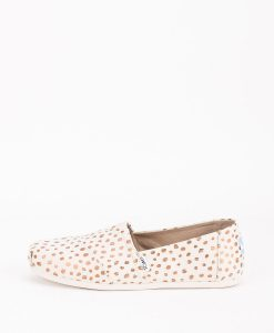 TOMS Women Espadrilles 11646 CANVAS DOTS W, Rose Gold Natural 55.99