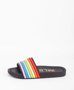 MELISSA Women Flip Flops 32389 BEACH SIDE 3D RAINBOW, Black 77.99