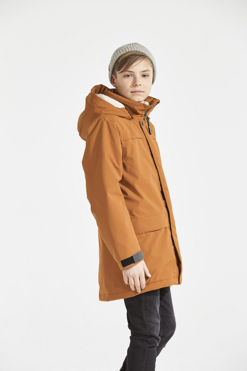 48cb6662 DIDRIKSONS Boys Parka Bjorling, Leather Brown 149.99 4