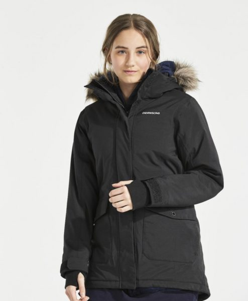 DIDRIKSONS Girls Parka Sassen, Black 149.99 4