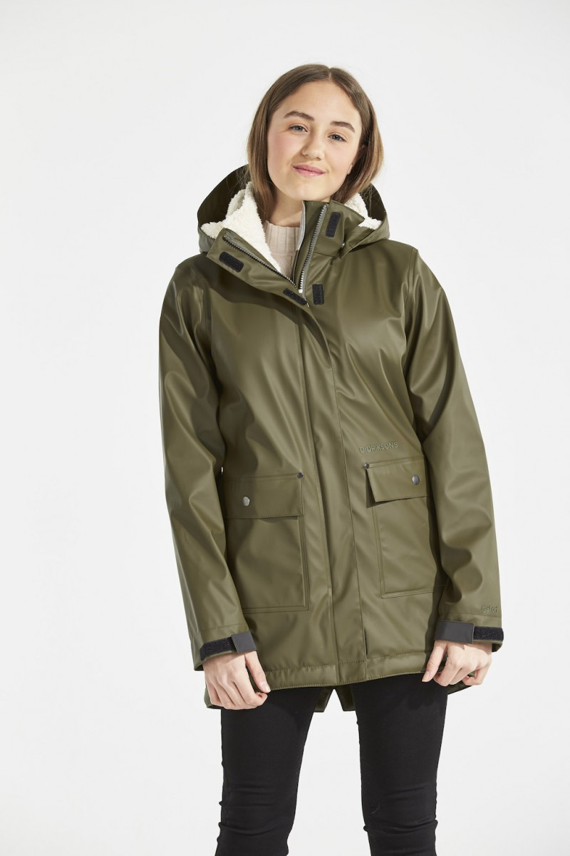 DIDRIKSONS Girls Rain coat Thayer Galon, Peat 109.99 2