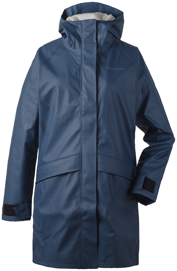 DIDRIKSONS Womans Rain Coat Ulla, Atlantic Blue 179.99