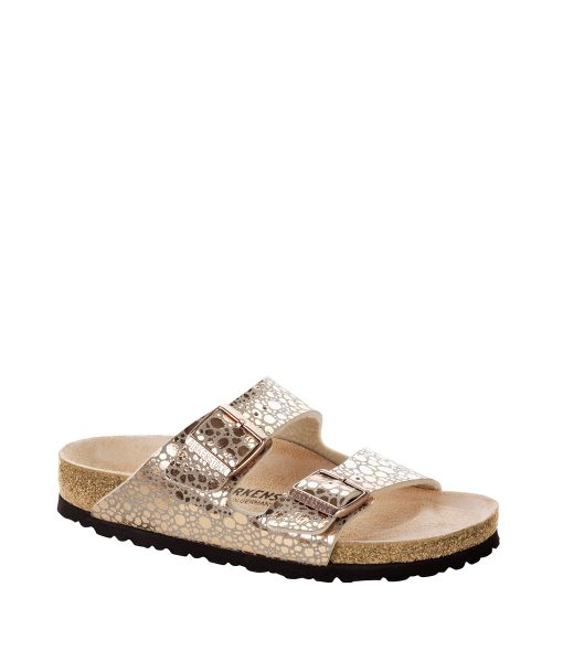 BIRKENSTOCK Women Flip Flops 1006685 ARIZONA BF, Metallic Stones Copper 89.99