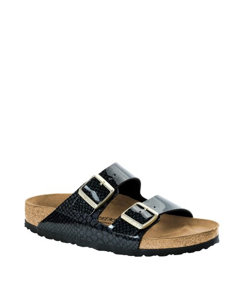 BIRKENSTOCK Women Flip Flops 1009125 ARIZONA BF, Magic Snake Black 79.99