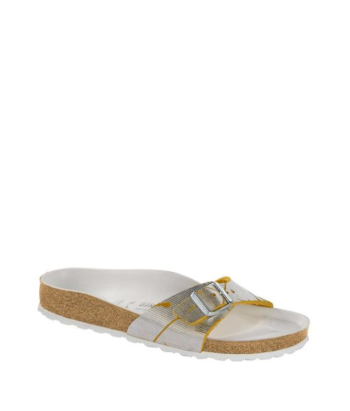 BIRKENSTOCK Women Flip Flops 1012960 MADRID NU, Metallic Cuts Lemon 89.99