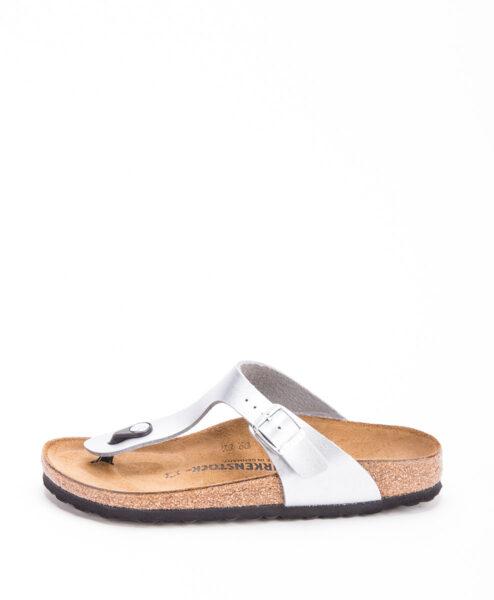 BIRKENSTOCK Women Flip Flops 1012982 GIZEH BF, Silver 79.99