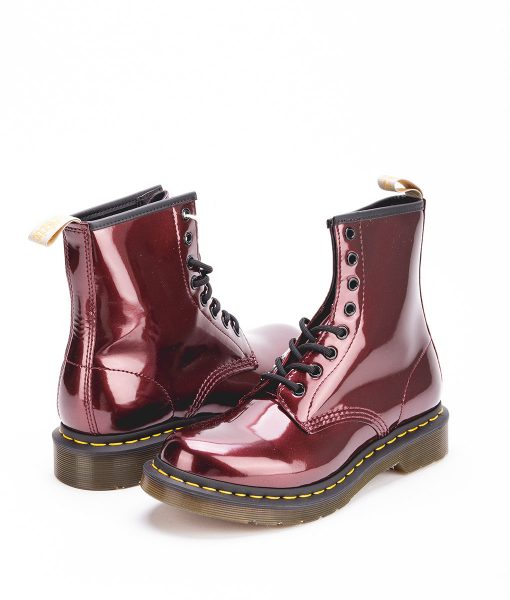 DR MARTENS Women Ankle Boots 1460 23922601 VEGAN CHROME, Red 189.99 1