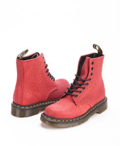 DR MARTENS Women Ankle Boots 1460 PASCAL GLITTER 24839602, Red 179.99 1