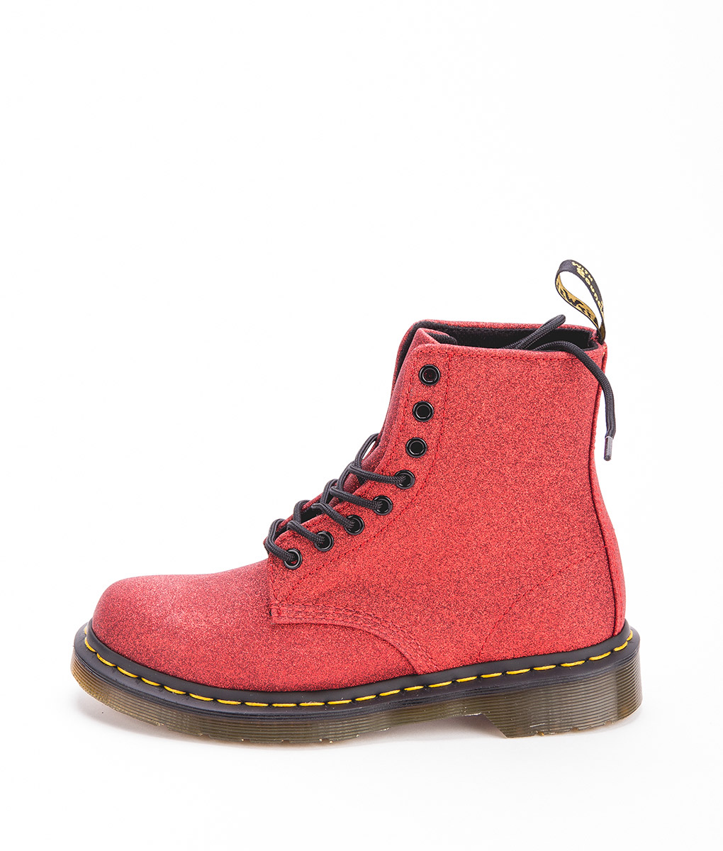 DR MARTENS Women Ankle Boots 1460 PASCAL GLITTER 24839602, Red
