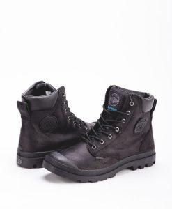 PALLADIUM Men Sneakers 73231 PAMPA CUFF WP LUX LEATHER, Black 139.99 1