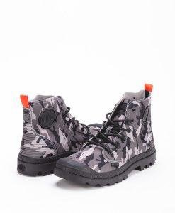 PALLADIUM Men Sneakers 75987 PAMPA APHIBIAN CAMO TEXTILE, Black Camo Grey 109.99 1