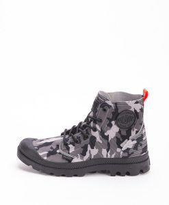 PALLADIUM Men Sneakers 75987 PAMPA APHIBIAN CAMO TEXTILE, Black Camo Grey 109.99