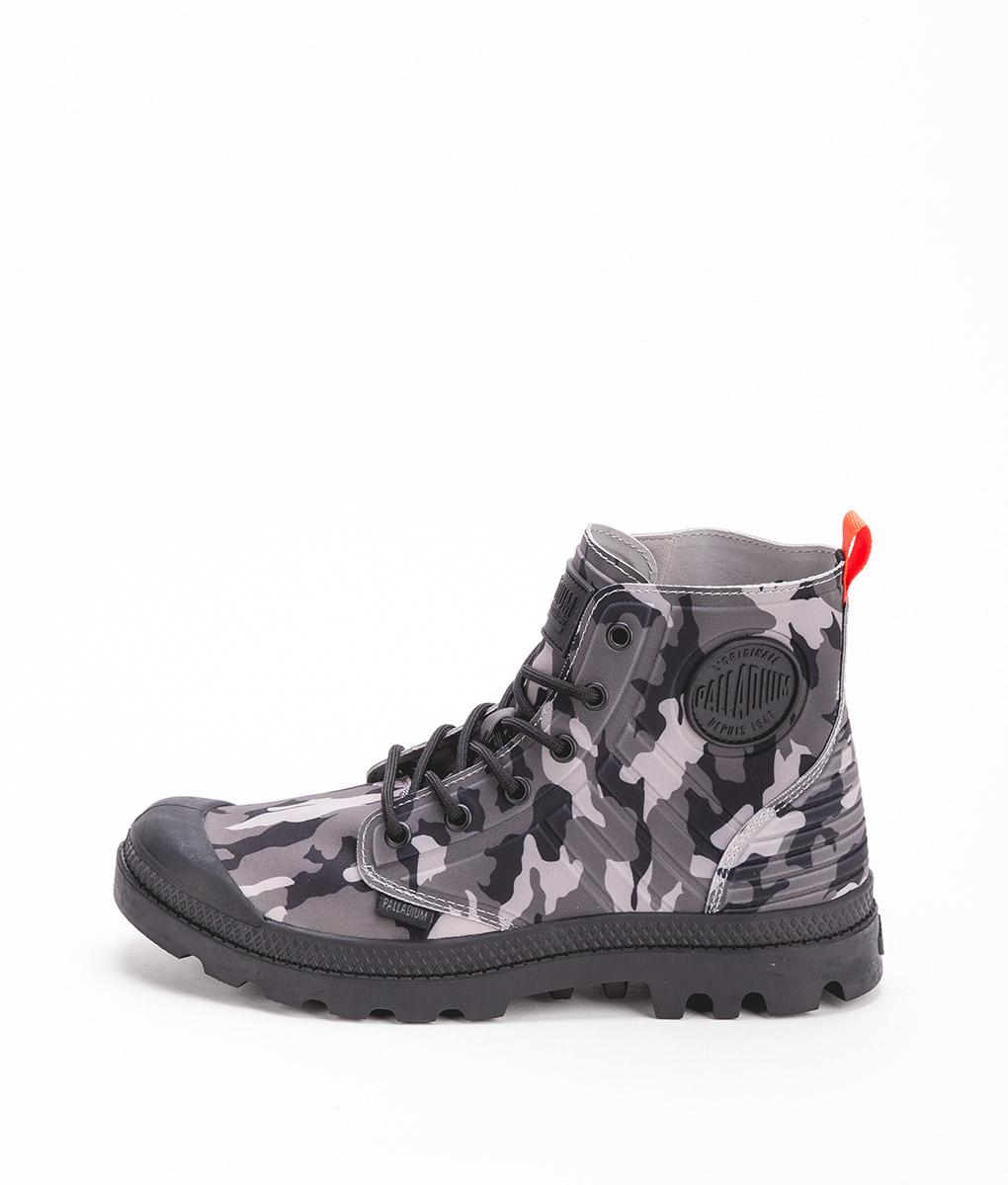 3189d28dfe1 PALLADIUM Men Sneakers 75987 PAMPA APHIBIAN CAMO TEXTILE, Black Camo Grey  109.99