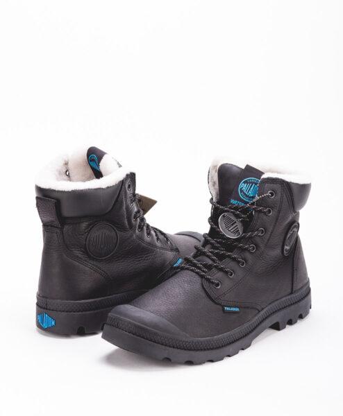 PALLADIUM Unisex Sneakers 72992 PAMPA SPORT CUFF WPS LEATHER, Black 159.99 1