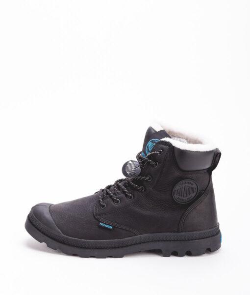 PALLADIUM Unisex Sneakers 72992 PAMPA SPORT CUFF WPS LEATHER, Black 159.99