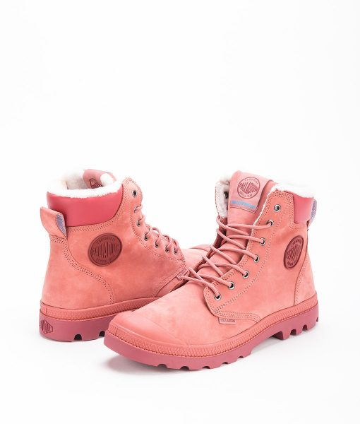 PALLADIUM Unisex Sneakers 72992 PAMPA SPORT CUFF WPS LEATHER, Brick Dust Cowhide 159.99 1