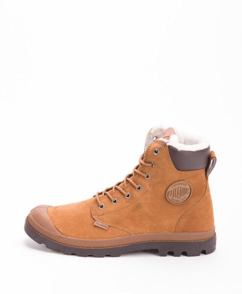 PALLADIUM Unisex Sneakers 72992 PAMPA SPORT CUFF WPS LEATHER, Machagony Chocolate 159.99