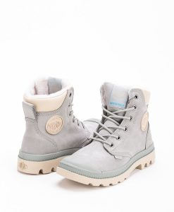 PALLADIUM Unisex Sneakers 72992 PAMPA SPORT CUFF WPS LEATHER, Shadow Safari 159.99 1