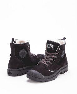PALLADIUM Women Sneakers 96102 PAMPA HI S ZIP LEATHER, Black Black 119.99 1