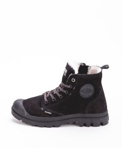 PALLADIUM Women Sneakers 96102 PAMPA HI S ZIP LEATHER, Black Black 119.99
