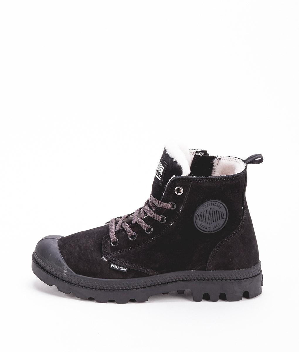 2822b787a07 PALLADIUM Women Sneakers 96102 PAMPA HI S ZIP LEATHER, Black Black 119.99