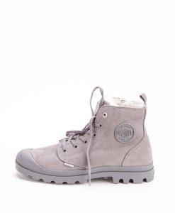 PALLADIUM Women Sneakers 96102 PAMPA HI S ZIP LEATHER, Cloudburst Charcoal Grey 119.99