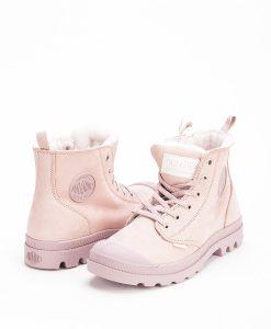 PALLADIUM Women Sneakers 96102 PAMPA HI S ZIP LEATHER, Rose Dust Fawn 119.99 1