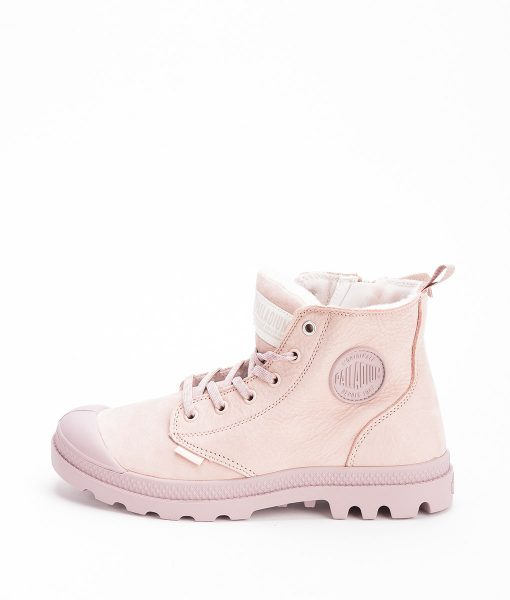 PALLADIUM Women Sneakers 96102 PAMPA HI S ZIP LEATHER, Rose Dust Fawn 119.99