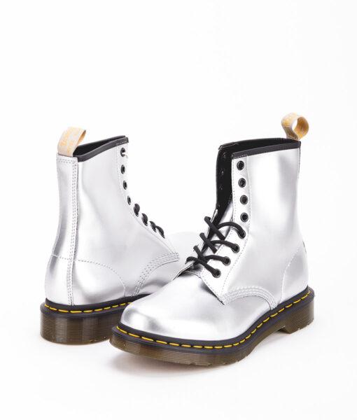 DR MARTENS Women Ankle Boots 1460 24865040 VEGAN, Silver 189.99 1