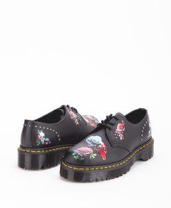DR MARTENS Women Shoes 1461 24422001 BEX ROSE, Black Multi 189.99 1