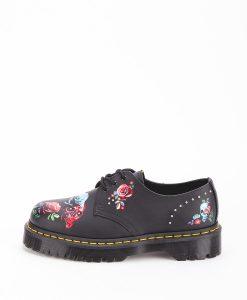 DR MARTENS Women Shoes 1461 24422001 BEX ROSE, Black Multi 189.99