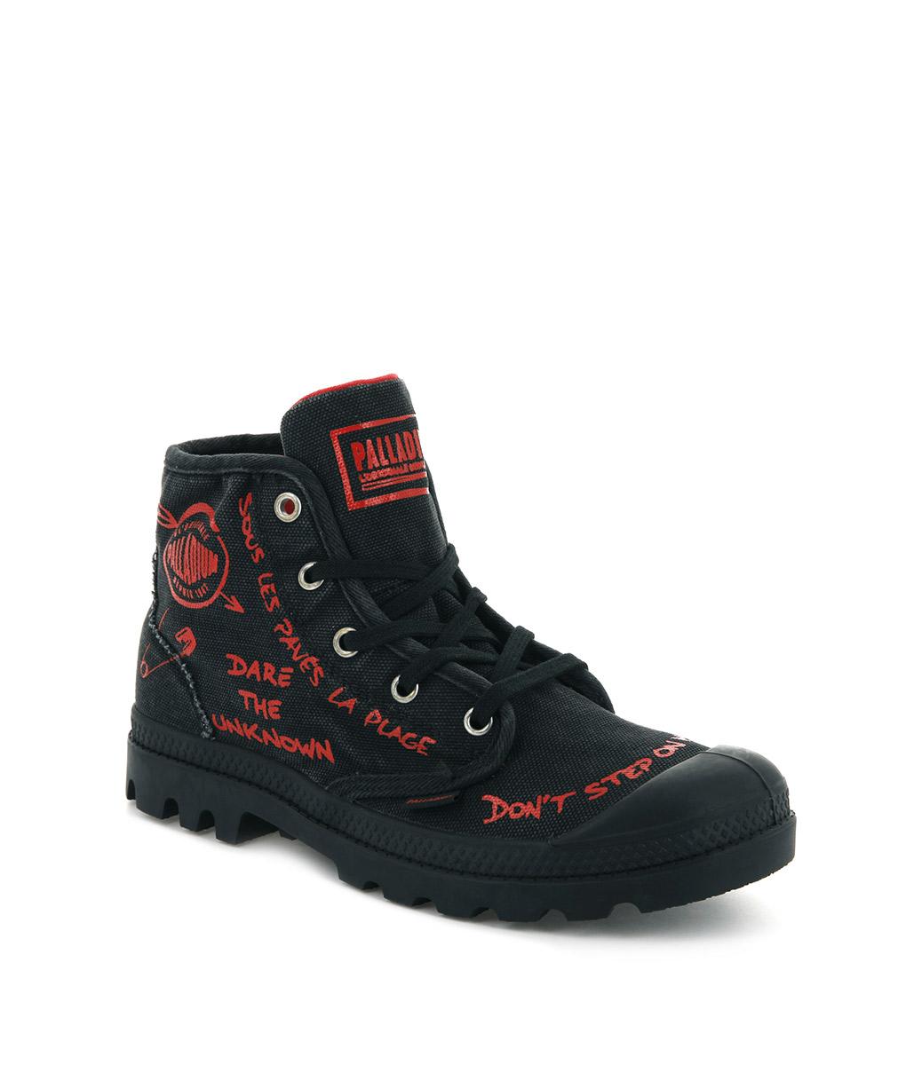 snygg höstskor grossisthandlare PALLADIUM Women Sneakers 96267 PAMPA PROTEST, Black 79.99 1 – T6/8