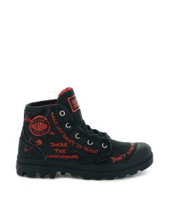 PALLADIUM Women Sneakers 96267 PAMPA PROTEST, Black 79.99