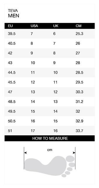Size-chart-Teva-Men-En