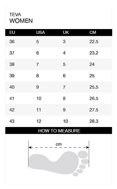 Size-chart-Teva-Women-en