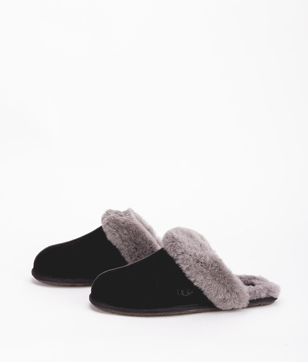 585465c71cd UGG Women Slippers 5661 SCUFFETTE II, Black Grey