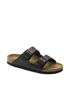 BIRKENSTOCK Women Flip Flops 1014065 ARIZONA NL, Wash Metallic Antique Black, 99.99 2