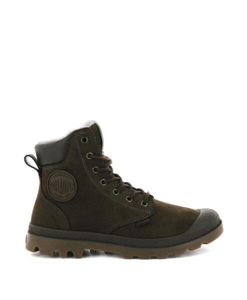 PALLADIUM Unisex Sneakers 72992 PAMPA SPORT CUFF WPS LEATHER, Carafe 159.99