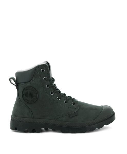 PALLADIUM Unisex Sneakers 72992 PAMPA SPORT CUFF WPS LEATHER, Olive Night 159.99