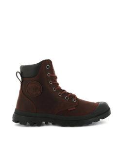 PALLADIUM Unisex Sneakers 73231 PAMPA CUFF WP LUX LEATHER, Burnt Ochre 149.99 4