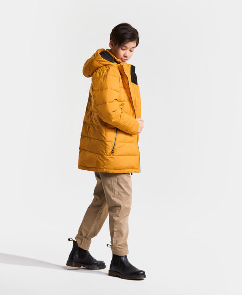 DIDRIKSONS Boys Jacket 502747 VALETTA, Yellow Ochre