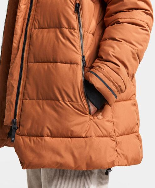 DIDRIKSONS Girls Jacket 502748 TURIN, Toffee Brown 3