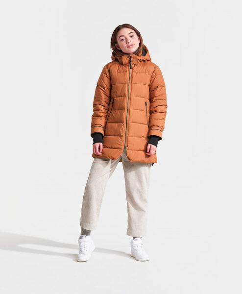 DIDRIKSONS Girls Jacket 502748 TURIN, Toffee Brown