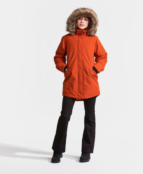 DIDRIKSONS Girls Parka 502734 NEAPEL, Ember Red 4