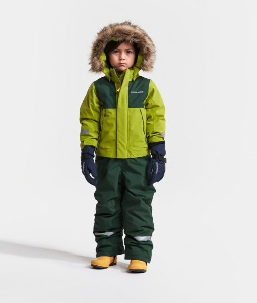 DIDRIKSONS Kids Coverall 502652 TIRIAN, Seagrass Green 3