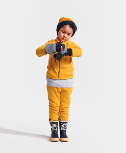DIDRIKSONS Kids Microfleece Jacket 502673 MONTE, Oat Yellow 1