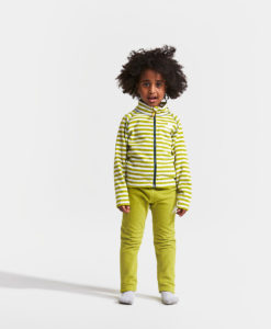 DIDRIKSONS Kids Microfleece Jacket 502674 MONTE PRINTED, Seagrass Green Simple Stripe